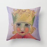 le petit prince Throw Pillows featuring le petit prince by aycaemir