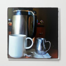 Morning Room Service Metal Print
