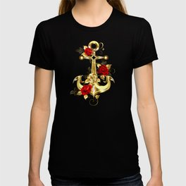 Golden Anchor with Roses T-shirt