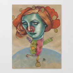 JUGGLING CLOWN Canvas Print