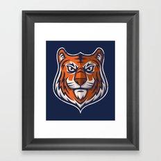 Tiger Shield Framed Art Print