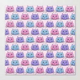 Polka Dot Cats Canvas Print