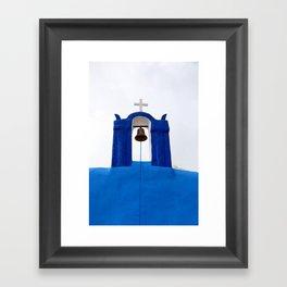 Bell tower - Santorini Gerahmter Kunstdruck