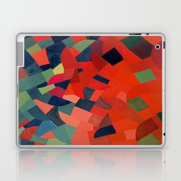 Grün-Rot Otto Freundlich 1939 Abstract Art Mid Century Modern Geometric Colorful Shapes Hard Edge Laptop & iPad Skin