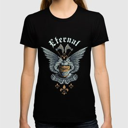 Eternal Knight with Angel Wings 2 Axes T-shirt