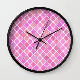 Purple Moroccan Pattern Wall Clock