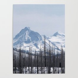 Snow On The Three Sisters Mountains 282 Poster