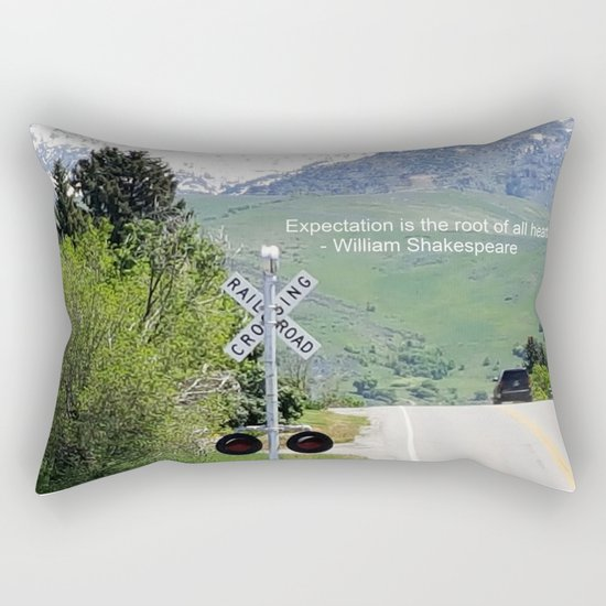 Shakespeare Expectation Quote Rectangular Pillow