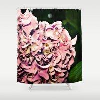 hydrangea Shower Curtains featuring Hydrangea  by Idle Amusement