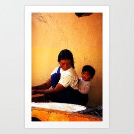 Chamula Woman and Child Art Print