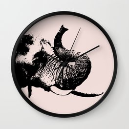 Elephant in pink Wall Clock