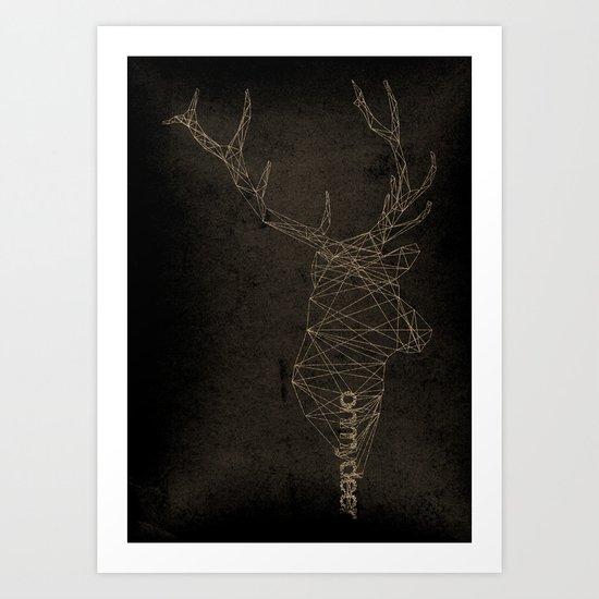 oh my deer art print by robert farkas society6. Black Bedroom Furniture Sets. Home Design Ideas