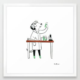 Dalmatian Biologist (Dogs with Jobs series) Framed Art Print
