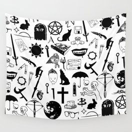Buffy Symbology, Black Wall Tapestry