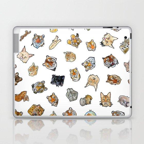 Big Cat Repeat 1 Laptop & iPad Skin