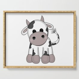 Cuddly Cow Serving Tray