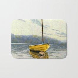 The Little Yellow Sailboat Bath Mat
