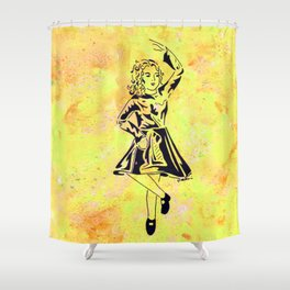 Imbolc  (traditional Irish step dancer celebrating Brigid and the festival of light) Shower Curtain
