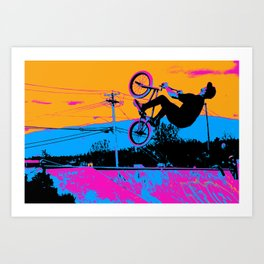BMX Back-Flip Art Print