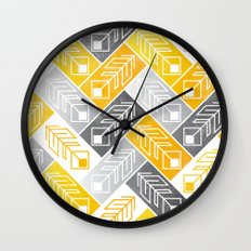 Bright Geometric Print Wall Clock