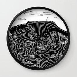 Mountain and Sea Wall Clock