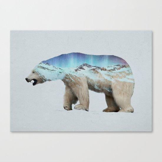 The Arctic Polar Bear Canvas Print