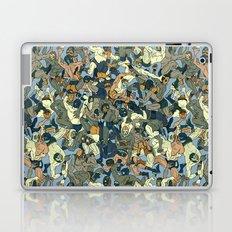 Lucha Pattern(blue&orange) Laptop & iPad Skin
