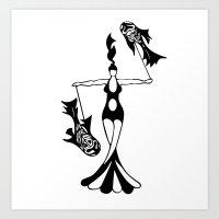 phish Art Prints featuring Poi Phish by Matt Gaunt