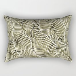 Tropical Leaves – Taupe Palette Rectangular Pillow