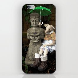 Miss Mouse and Garden Buddha iPhone Skin