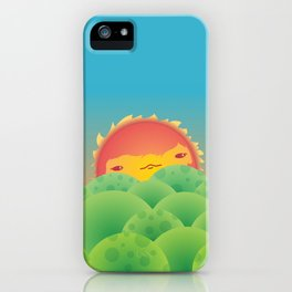 Sunlit Hills iPhone Case