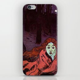 The Chase - Running Away From Fear iPhone Skin