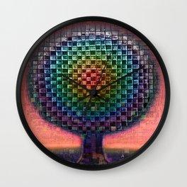 Tree Town Rainbow Etude Wall Clock