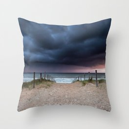 Stormy coast Throw Pillow