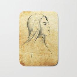 Girl with Nose Pin - 3 Bath Mat