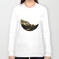 snowboarding Long Sleeve T-shirts featuring Golden Mountain by Schwebewesen • Romina Lutz