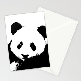 Giant Panda in Black & White Stationery Cards