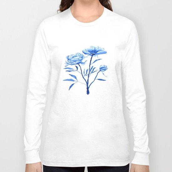 Blue peony 2 Long Sleeve T-shirt