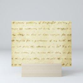 Simply Text Mini Art Print