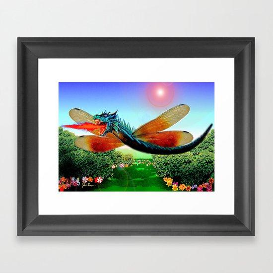 Dragon fly Framed Art Print