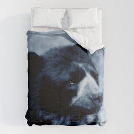 Black bear contemplating life Comforters