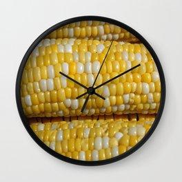 Stack of Corn Cobs Wall Clock
