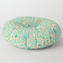 Fungi V2 Vintage Mushroom Pattern Floor Pillow