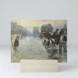Pieter de Josselin de Jong - Horse Drovers and Wagons - Dutch Victorian Retro Vintage Oil Painting Mini Art Print