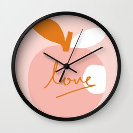 Abstraction_LOVE_BITE Wall Clock