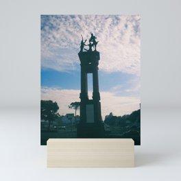 Statue in a fountain Mini Art Print