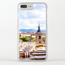 Fine Dining in Segovia Clear iPhone Case