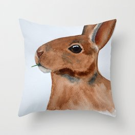Hungry Rabbit Throw Pillow