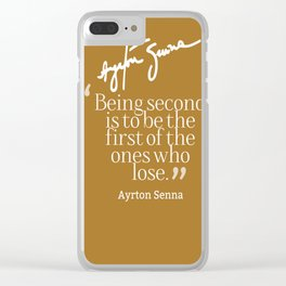 Ayrton Senna Quote Clear iPhone Case