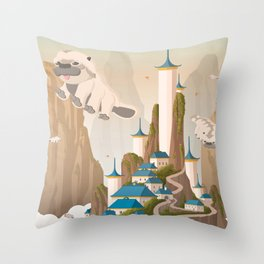 Southern Air Temple Travel Poster Throw Pillow